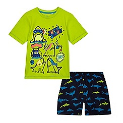 bluezoo - Boys' green shark print pyjama set