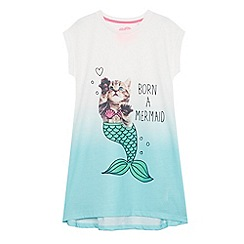 bluezoo - Girls' white mermaid nightie