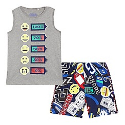 bluezoo - Boys' multi-coloured battery print pyjama set