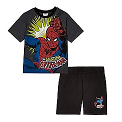 Spider-man - Boys' grey Spiderman pyjama t-shirt and shorts set