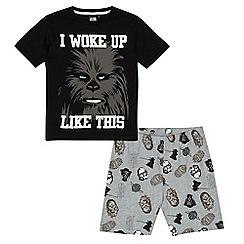Star Wars - Boys' black 'I Woke Up Like This' pyjama set
