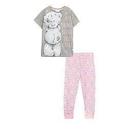 Tatty Teddy - Girls' grey and pink 'Me To You' bear print pyjama set
