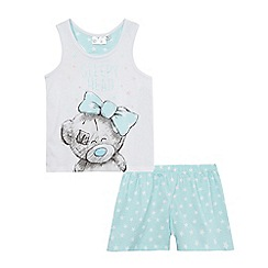 Tatty Teddy - Girls' blue top and shorts pyjama set