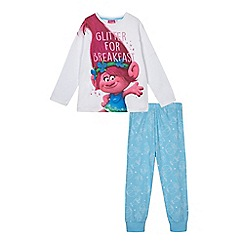 Debenhams - Girls' blue 'Trolls' pyjama set