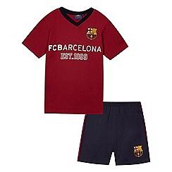 Barcelona - Boys' dark red 'FCBarcelona' shirt and shorts set