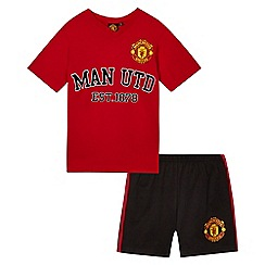 Manchester United - Boys' red ''Manchester United' shirt and shorts set