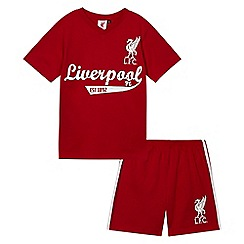 Liverpool FC - Boys' dark red 'Liverpool' football shirt and shorts set
