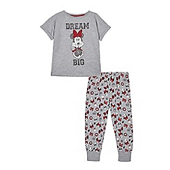 Minnie Mouse - Girls' grey 'Minnie Mouse' two piece pyjama set