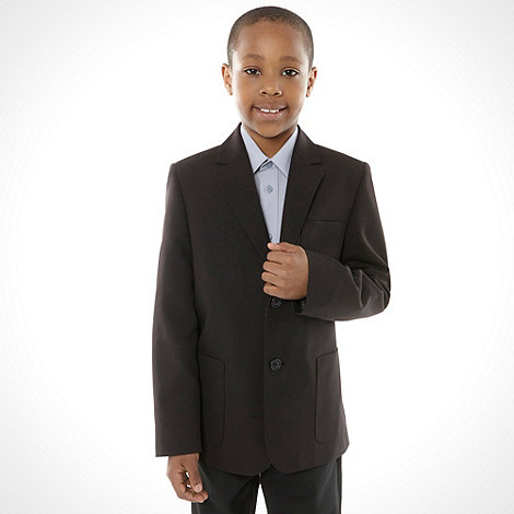 Debenhams - Boy+s black two button school uniform blazer