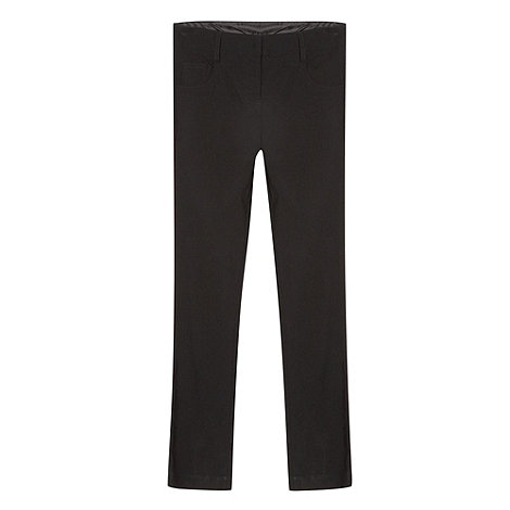 Debenhams - Girl+s black slim school uniform trousers