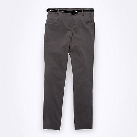 Debenhams - Girl+s grey slim leg school uniform trousers