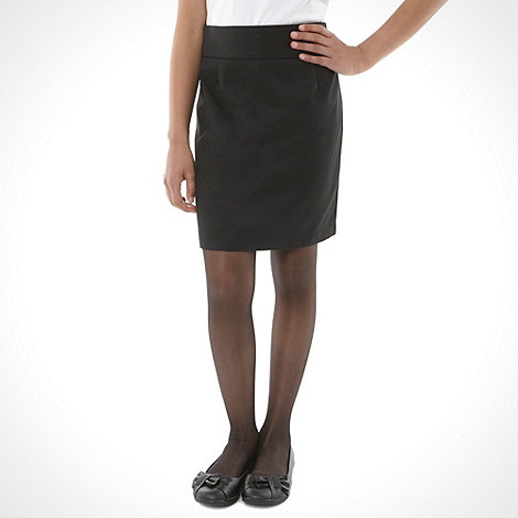 Debenhams - Girl+s black pencil school uniform skirt