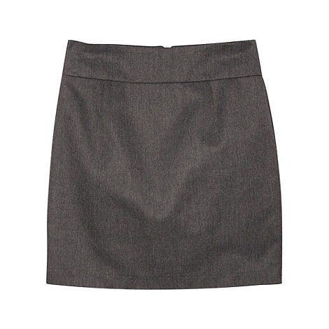 Debenhams - Girl+s grey pencil school uniform skirt