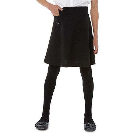 Debenhams - Girl+s black A line school uniform skirt