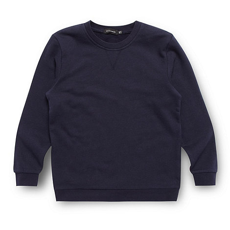 Debenhams - Children+s navy crew neck school uniform sweat top