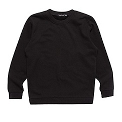 Debenhams - Unisex black school uniform crew neck sweater