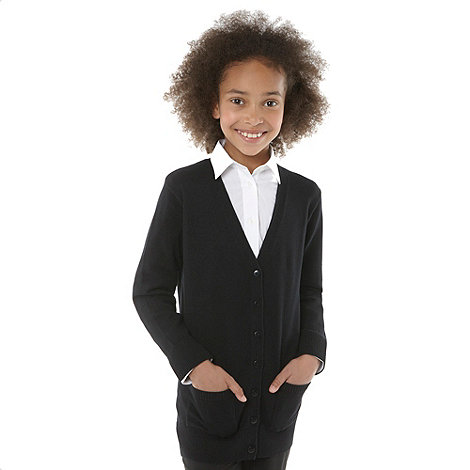 Debenhams - Girl+s back long line school uniform cardigan