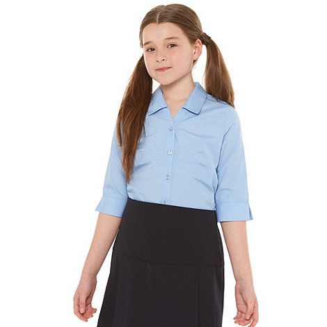 Debenhams - Girl+s blue fashion school uniform blouse