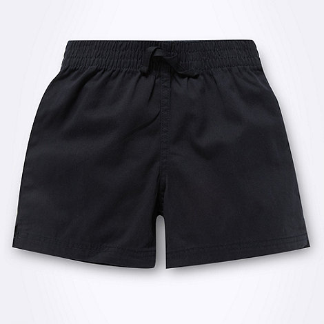Debenhams - Boy+s navy woven school uniform shorts