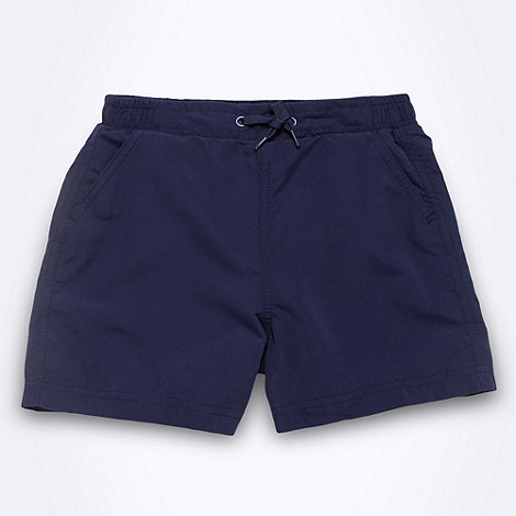 Debenhams - Boy+s navy swim shorts
