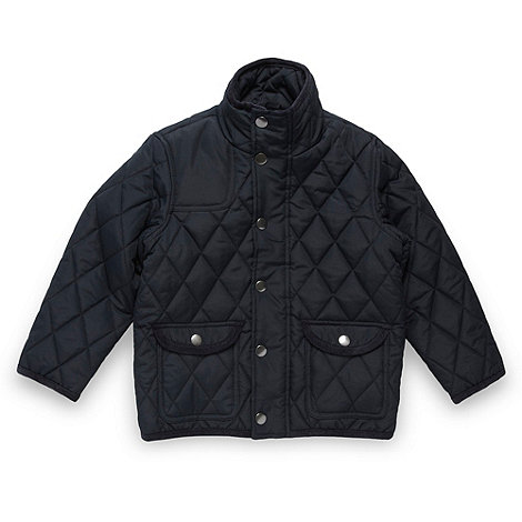 null - Boy+s dark blue quilted school uniform jacket