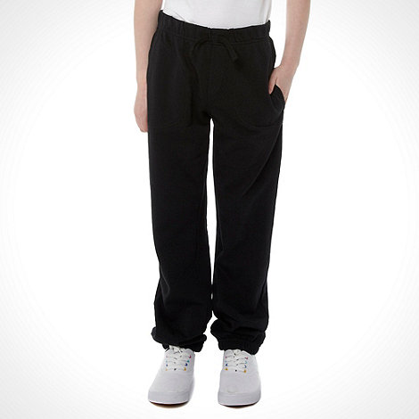 Debenhams - Unisex black school uniform joggers