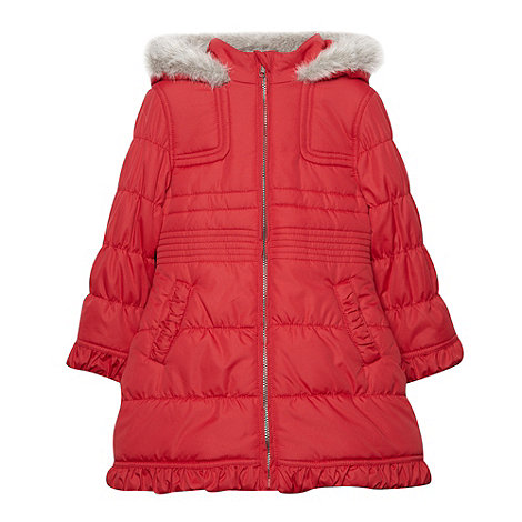 Debenhams - Girl+s red padded school uniform coat