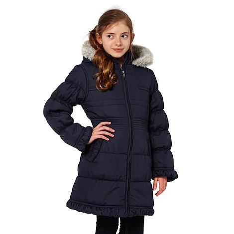 Debenhams - Girl+s navy padded school uniform coat