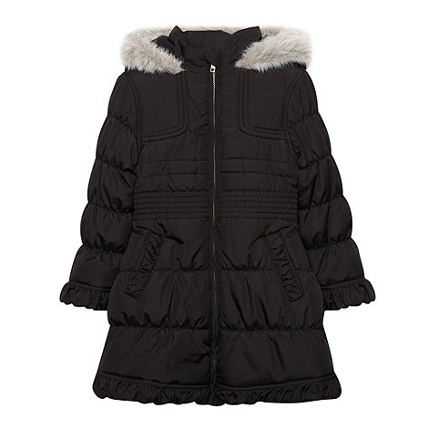 Debenhams - Girl+s black padded school uniform coat