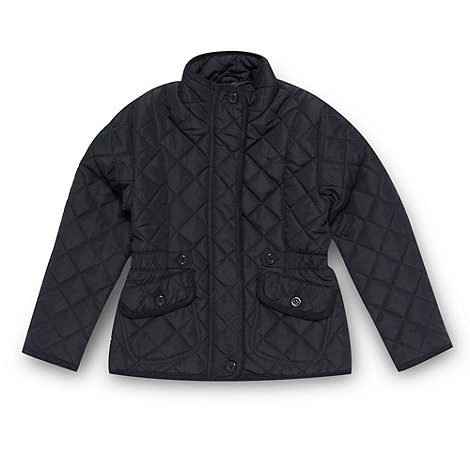 Debenhams - Girl+s navy quilted jacket