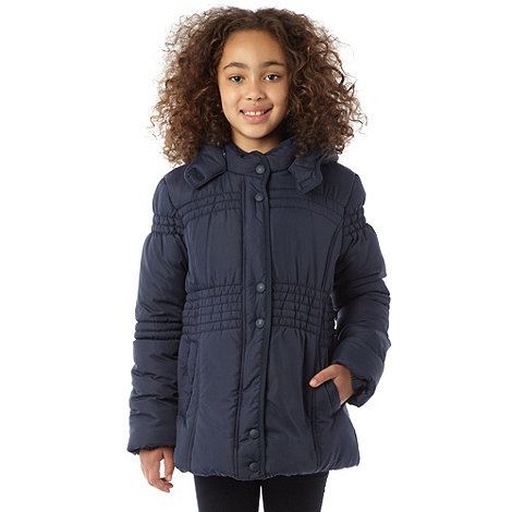 Debenhams - Girl+s navy padded school uniform jacket