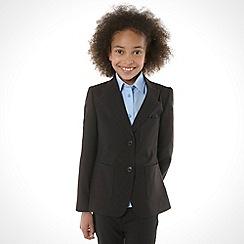 Debenhams - Girl's black two button school uniform blazer