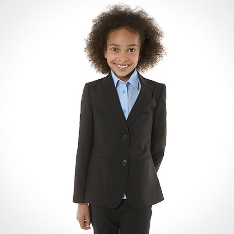 Debenhams - Girl+s black two button school uniform blazer