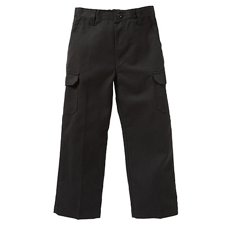 Debenhams - Boy+s black cargo school uniform trousers