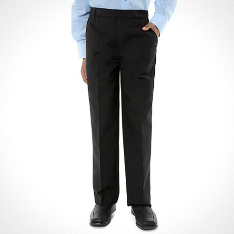Debenhams - Boy+s black pull on school uniform trousers