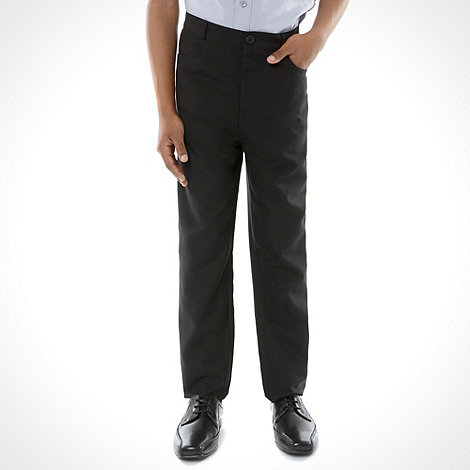 Debenhams - Boy+s black slim fit school uniform trouser