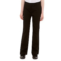 Debenhams - Girl's black school uniform trousers