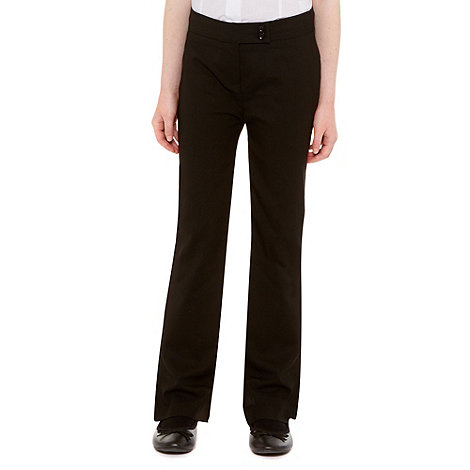 Debenhams - Girl+s black school uniform trousers