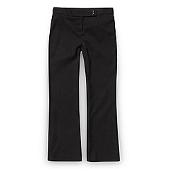 Debenhams - Girl's dark grey school uniform trousers