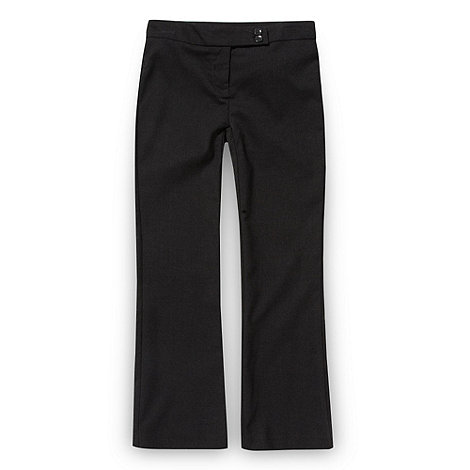 Debenhams - Girl+s dark grey school uniform trousers