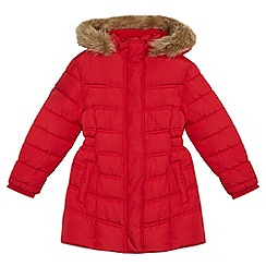 Debenhams - Girls' red padded coat