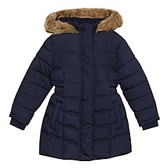 Debenhams - Girls' navy padded coat