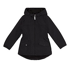 Debenhams - Girls' black fleece lined coat