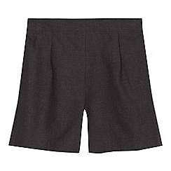 Debenhams - Girls' grey school shorts