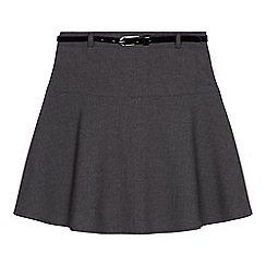 Debenhams - Senior girls'  grey belted school skirt