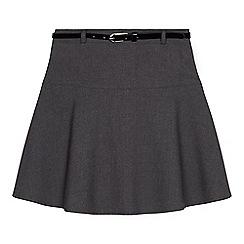 Debenhams - Girls' grey belted school skirt