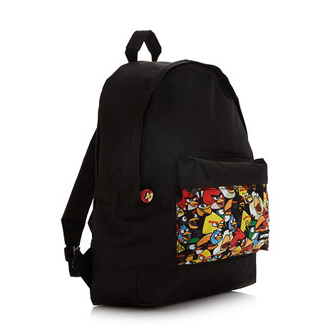 Debenhams - Boy+s black +Angry Birds+ backpack