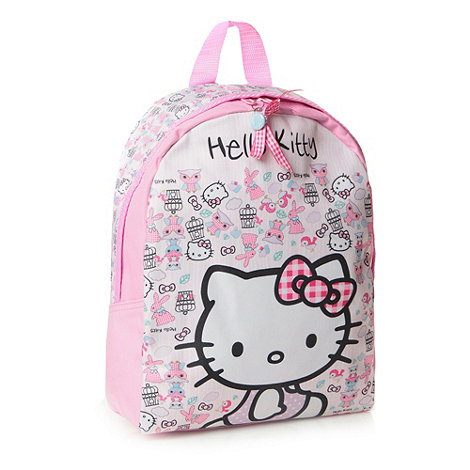 Hello Kitty - Girl+s pink +Hello Kitty+ backpack
