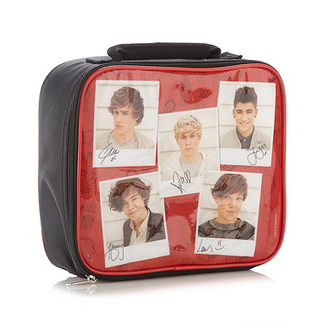 One Direction - Girl+s black +One Direction+ lunch bag