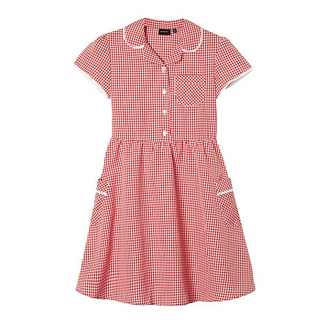 Debenhams - Girl+s red gingham school dress